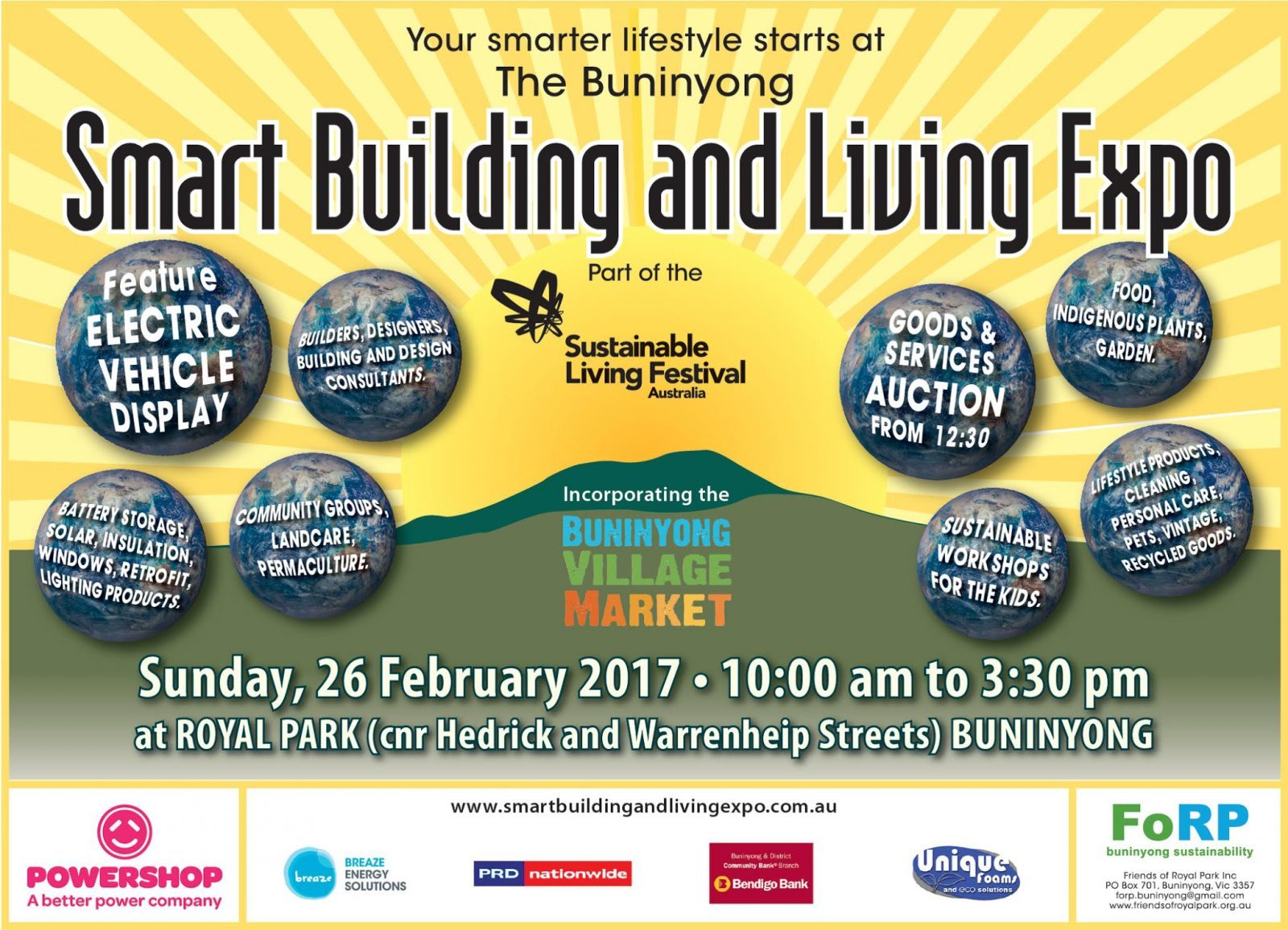 COME AND SEE US AT THE SUSTAINABLE BUILDING & LIVING FESTIVAL